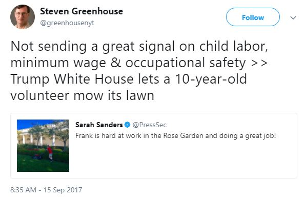Steven Greenhouse Tweet